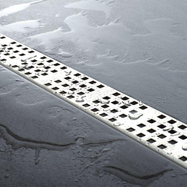 Tilux Line TLL 90 Duschelement Set Linienablauf 90 x 90 x 3,6 cm