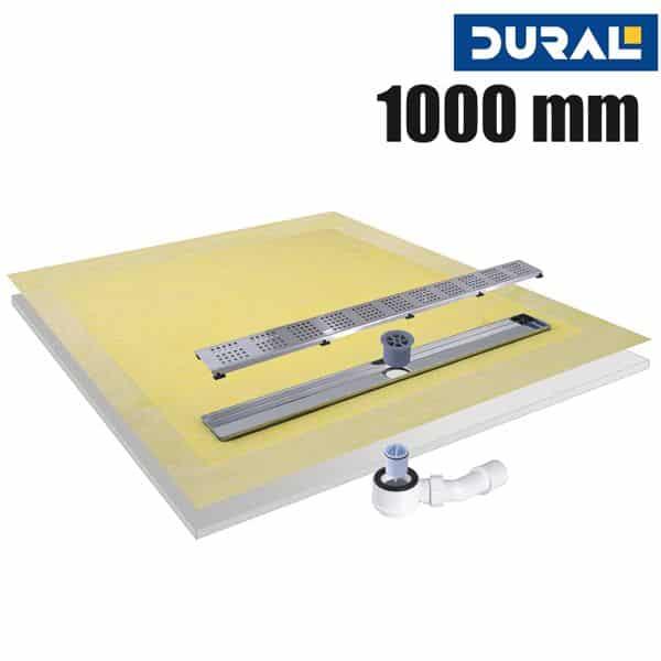 Tilux Line TLL 100 Duschelement Set Linienablauf 100 x 100 x 4 cm