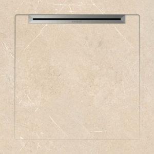 Aquanit Duschtasse aus Feinsteinzeug  80x80cm.