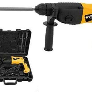 VITO Professional Kombihammer SET VIMP850 SDS-Plus Bohrhammer 4 Funktionen: Hämmern, Meißeln, Bohren, Schlagbohren | Meisselhammer 850W 2,75J