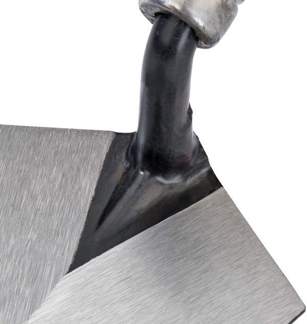 5842  Viereckskelle  geschmiedete  geschliffenes Blatt 180 mm