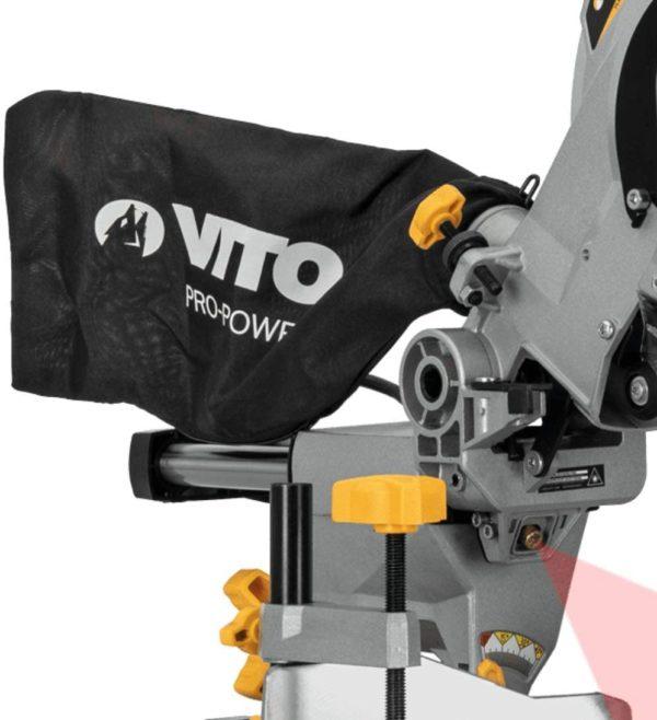Professional Kapp und Gehrungssäge 1800 W Zugsäge Teleskoparm Laser LED (1800 W, Sägeblatt Ø 216 mm, 5000 rpm, schwenkbarer Sägekopf)