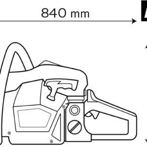 VITO Professional 2.45PS Benzin Kettensäge MS 45cm  Motorkettensäge