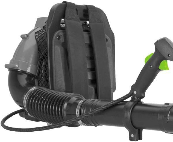 Professional rückentragbar Benzin Laubbläser 52 CC Laubgebläse Blasgeschwindigkeit 90 m/s - 0.24 m³/s, 2 PS bei 6.500 U/min