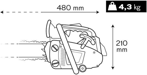 Benzin Kettensäge MP 25cc Plus Motorsäge 25cm