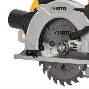 VITO Professional 20V Akku Handkreissäge mit Laserführungslicht LED - Profi Akku-Kreissäge 2,0 Ah, 45°, F 150mm Sägeblätter, 60 Min. Schnellladegerät, mit Akku und Ladegerät