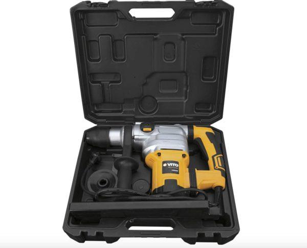 VITO Professional Kombihammer SET VIMP1050 SDS-Max Bohrhammer | Meisselhammer 1050W 9J - Mit 3 Funktionen: Bohren, Hämmern und Meißeln