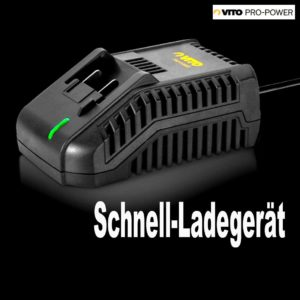 VITO Professional 18V Akku Schrauber SET Akkubohrschrauber Schrauber Li-Ion 2x 2 Ah Akkus, Bit-Satz, Koffer, Schnellladegerät