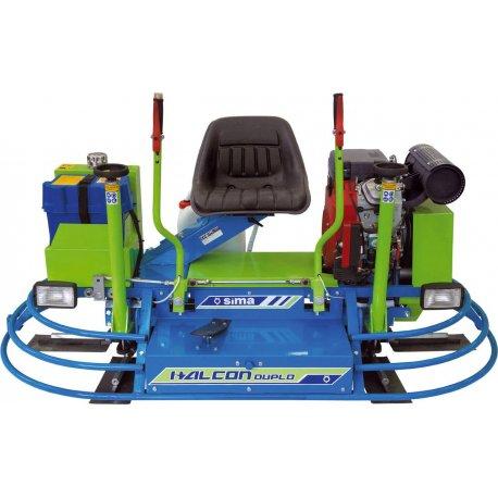 Betonglättmaschine mit Aufsitz und Doppelglätter Halcon Duplo Honda 23Hp Ø 90 cm
