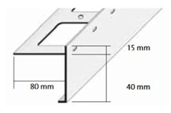DURABAL BS Balkonwinkel Alu grau 3,00m/55,0mm