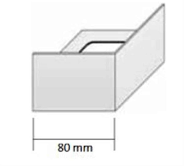 DURABAL BS Eckstück Alu grau 55,0mm