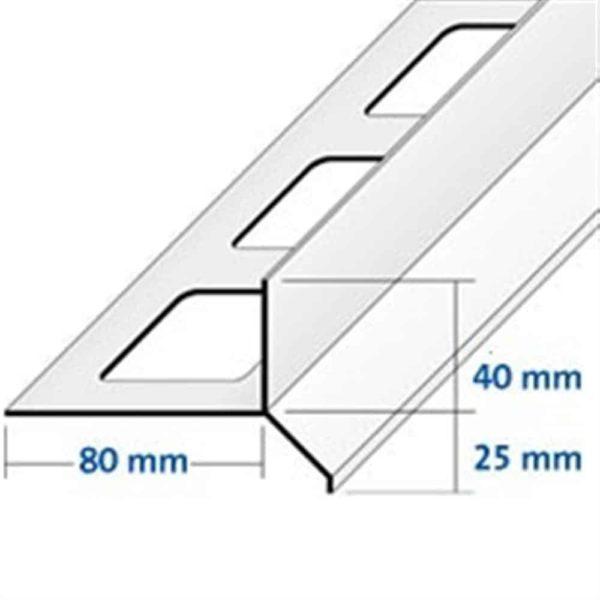 DURABAL BT Balkonwinkel Alu grau beschichtet 3,00m/65,0mm