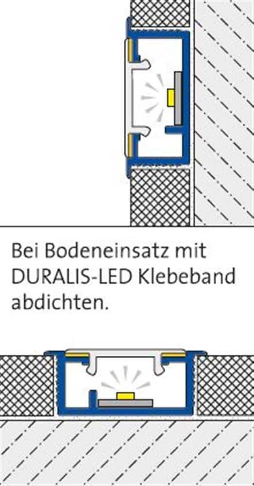 DURALIS-LED DLAE LED 2300-90-SW 250 CM SCHWARZ