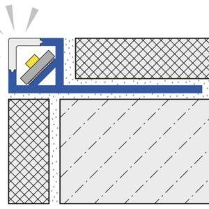 Squareline LED SQL Profil 110-SK aluminium silber eloxiert 250 cm