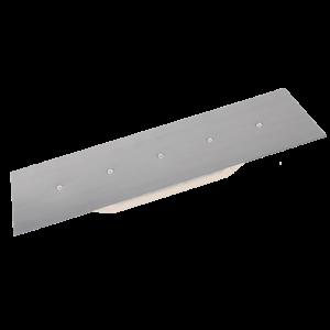 Glättkelle-Traufel Edelstahl INOX 480 x 150 x 80 mm