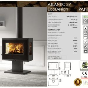 Kaminofen Atlantico 3V EcoDesign