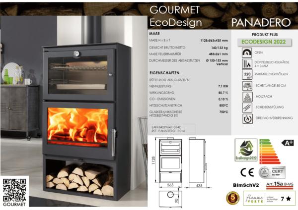 Kaminofen mit Backfach Gourmet EcoDesign