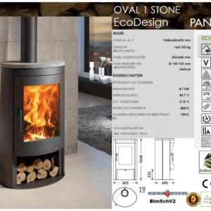 Kaminofen Oval 1 Stone Ecodesign