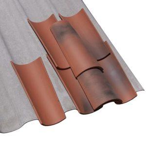 Faserzement-Wellplatte Dachplatte