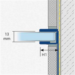 SHOWER-GK GLASAUFNAHME WAND FEINSCHL 220CM