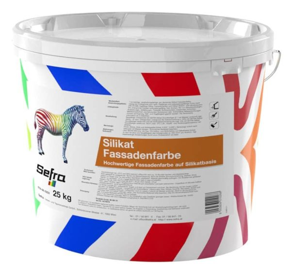 Sefra Silikat Fassadenfarbe Weiss 25 kg Gebinde
