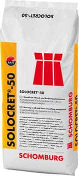 Schomburg SOLOCRET-50  Standfeste Spachtelmasse bis 50 mm, schnell erhärtend