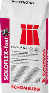 Schomburg SOLOFLEX-fast Flexibilisierter schneller Dünn- und Mittelbett Fliesenklebemörtel