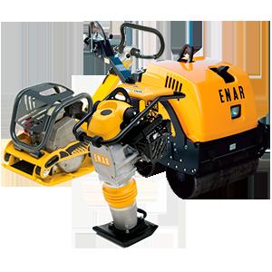maquinaria bandejas pisones rodillos 314 vibradores compactadores reversible motor explosion termico zanjas aceras